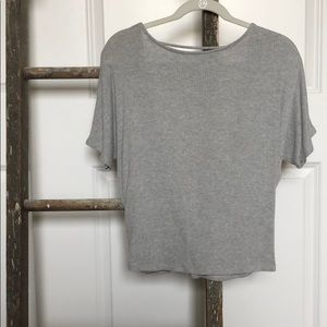 Gray top with open back